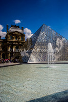 The Louvre Palace and the Pyramid-Paris, France