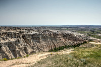 Badlands Gorge-Interior, South Dakota