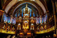 Notre Dame Basilica of Montreal Alter-Montreal, Canada