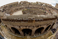 Fish Eye of the Colosseum-Rome, Italy