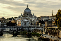 Vatican City from the Tiber-Rome, Italy