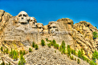 Mt Rushmore Grunge-Keystone, South Dakota