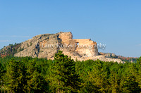Crazy Horse Monument from the Visitor Center-Crazy Horse, South Dakota