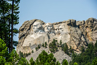 Mount Rushmore from Iron Mountain Road-Keystone, South Dakota